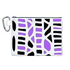 Purple abstract decor Canvas Cosmetic Bag (L)