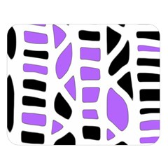 Purple abstract decor Double Sided Flano Blanket (Large)