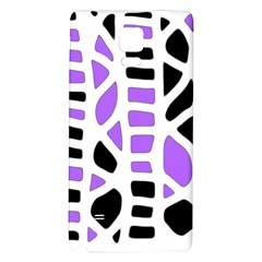 Purple abstract decor Galaxy Note 4 Back Case