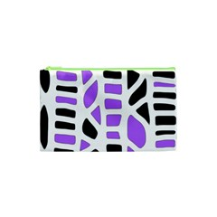 Purple abstract decor Cosmetic Bag (XS)