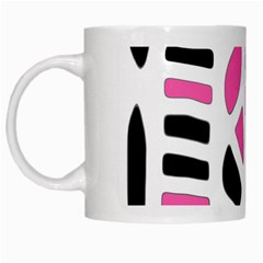 Pink Decor White Mugs