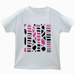 Pink decor Kids White T-Shirts