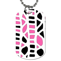 Pink decor Dog Tag (Two Sides)
