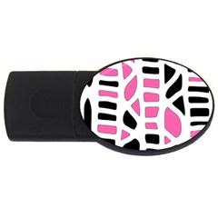 Pink decor USB Flash Drive Oval (1 GB)