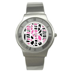 Pink decor Stainless Steel Watch