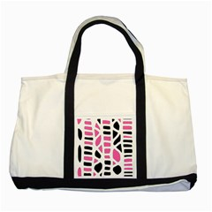 Pink decor Two Tone Tote Bag