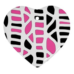 Pink decor Heart Ornament (2 Sides)