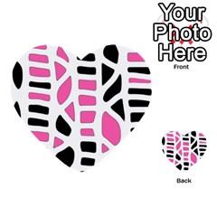 Pink decor Multi-purpose Cards (Heart)