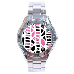 Pink decor Stainless Steel Analogue Watch