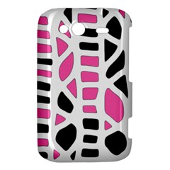 Pink decor HTC Wildfire S A510e Hardshell Case