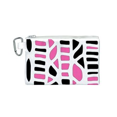 Pink decor Canvas Cosmetic Bag (S)