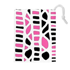 Pink Decor Drawstring Pouches (extra Large)