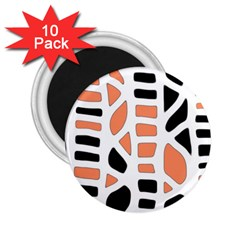 Orange decor 2.25  Magnets (10 pack)