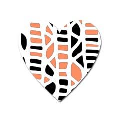 Orange decor Heart Magnet