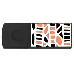Orange decor USB Flash Drive Rectangular (1 GB)
