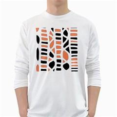 Orange decor White Long Sleeve T-Shirts