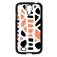 Orange decor Samsung Galaxy S4 I9500/ I9505 Case (Black)