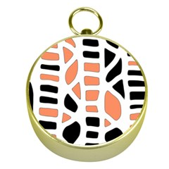 Orange decor Gold Compasses