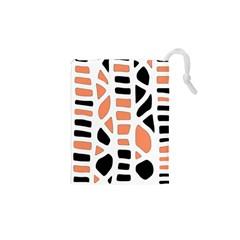 Orange decor Drawstring Pouches (XS)
