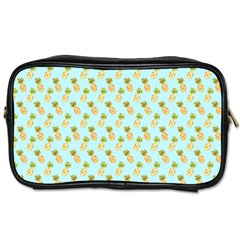 Tropical Watercolour Pineapple Pattern Toiletries Bags