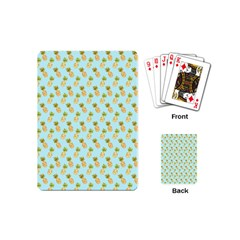 Tropical Watercolour Pineapple Pattern Playing Cards (Mini)