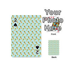 Tropical Watercolour Pineapple Pattern Playing Cards 54 (Mini)