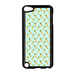 Tropical Watercolour Pineapple Pattern Apple iPod Touch 5 Case (Black)