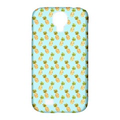 Tropical Watercolour Pineapple Pattern Samsung Galaxy S4 Classic Hardshell Case (PC+Silicone)