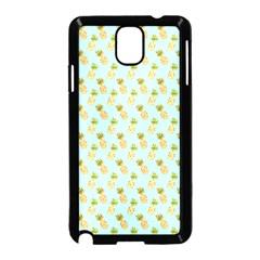 Tropical Watercolour Pineapple Pattern Samsung Galaxy Note 3 Neo Hardshell Case (Black)