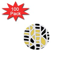 Yellow decor 1  Mini Buttons (100 pack)