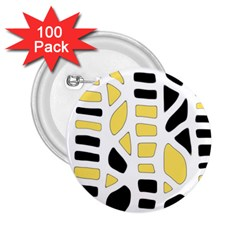 Yellow decor 2.25  Buttons (100 pack)