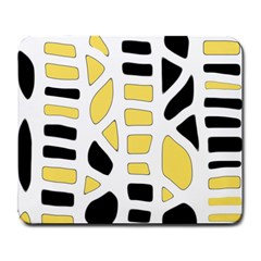 Yellow decor Large Mousepads