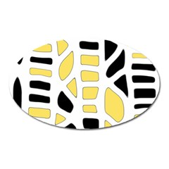 Yellow decor Oval Magnet