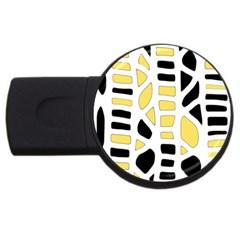 Yellow decor USB Flash Drive Round (1 GB)