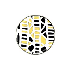 Yellow decor Hat Clip Ball Marker (4 pack)
