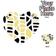 Yellow decor Playing Cards 54 (Heart)