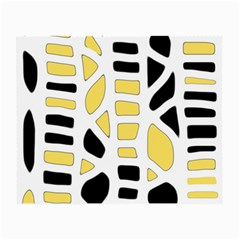Yellow decor Small Glasses Cloth (2-Side)