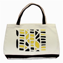 Yellow decor Basic Tote Bag (Two Sides)