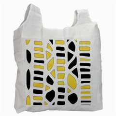 Yellow decor Recycle Bag (One Side)
