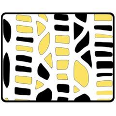 Yellow decor Fleece Blanket (Medium)