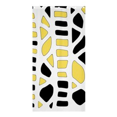 Yellow decor Shower Curtain 36  x 72  (Stall)
