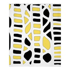 Yellow decor Shower Curtain 60  x 72  (Medium)