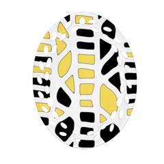 Yellow decor Ornament (Oval Filigree)
