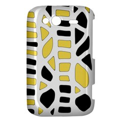 Yellow decor HTC Wildfire S A510e Hardshell Case