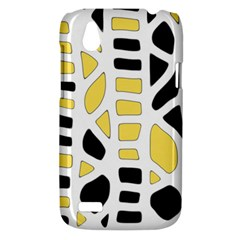 Yellow decor HTC Desire V (T328W) Hardshell Case