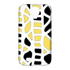 Yellow decor Samsung Galaxy S4 Classic Hardshell Case (PC+Silicone)