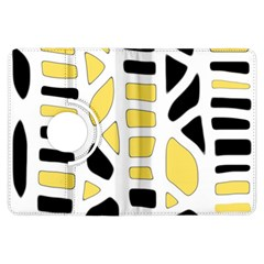 Yellow decor Kindle Fire HDX Flip 360 Case