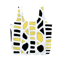 Yellow decor Full Print Recycle Bags (M)
