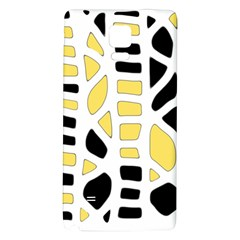 Yellow decor Galaxy Note 4 Back Case