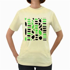 Light green decor Women s Yellow T-Shirt